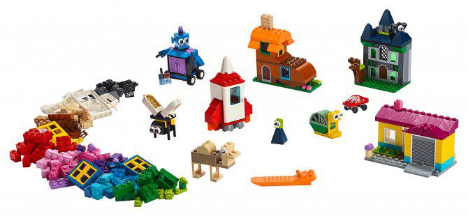 Купить Basic, Конструктор LEGO Classic Набор для творчества с окнами, LEGO для девочек