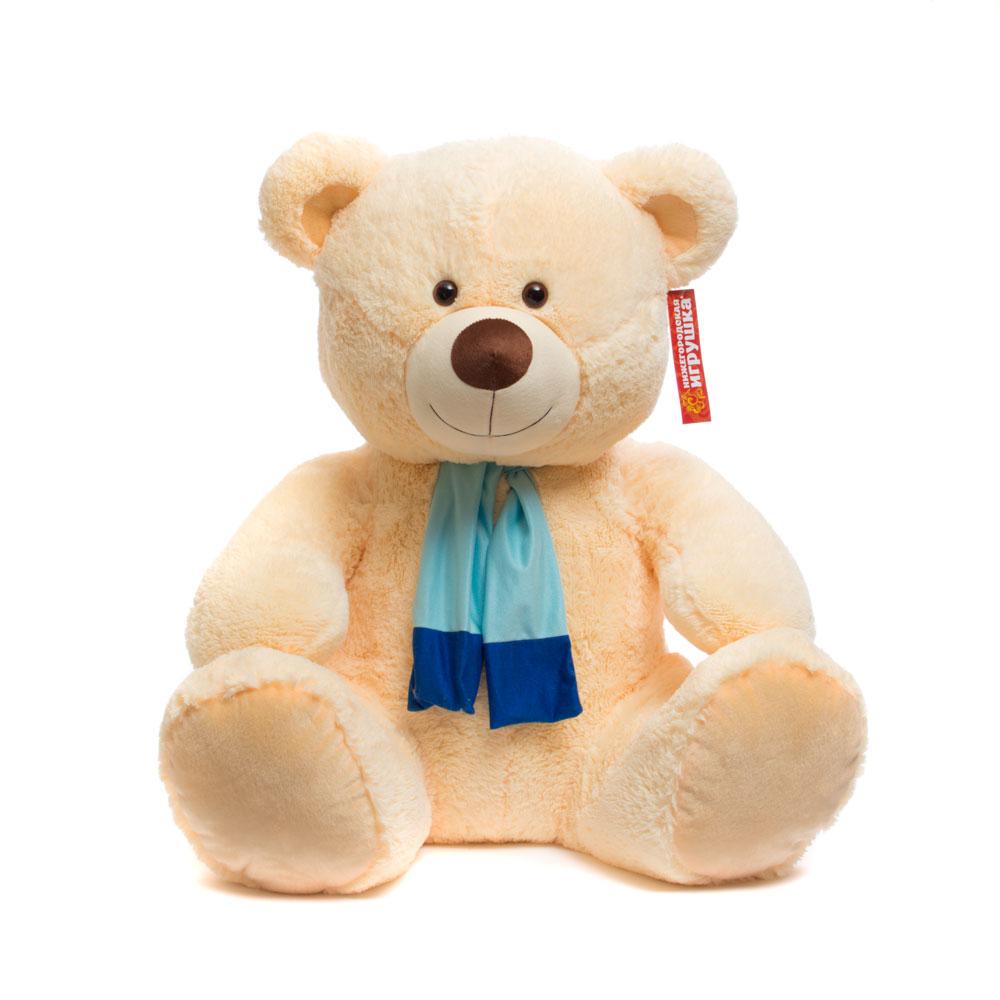 Купить Мягкая игрушка Медведь в шарфе новый 80 см Нижегородская игрушка См-490-5, Мягкие игрушки животные