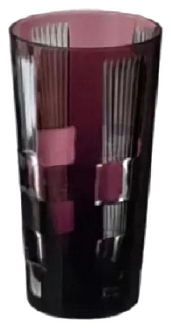 Стакан для воды Ajka Crystal Retro Black аметист 290 мл 1/94915