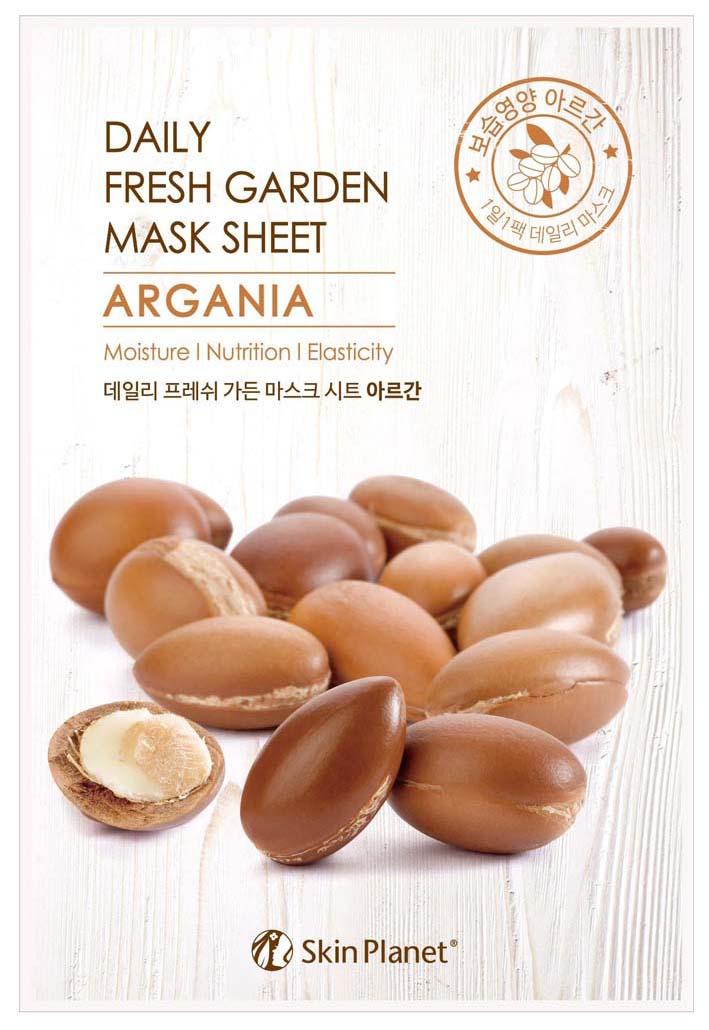 Маска для лица Mijin Skin Planet Daily Fresh Garden Mask Sheet Argania 25 г
