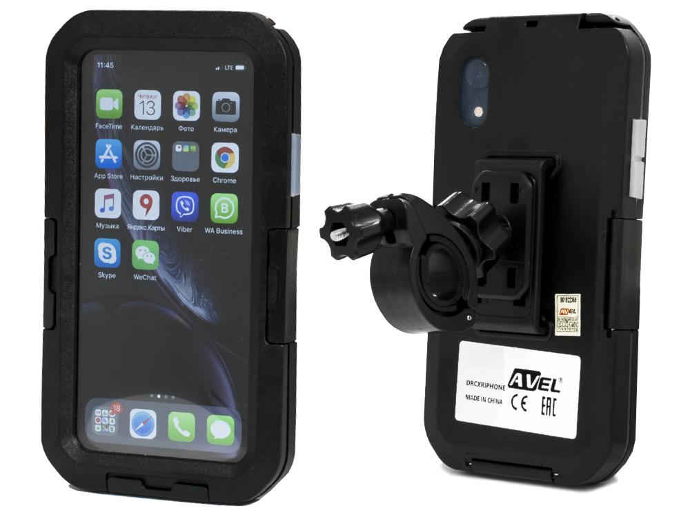 Чехол держатель AVEL для iPhone XR на велосипед DRCXRIPHONE Black