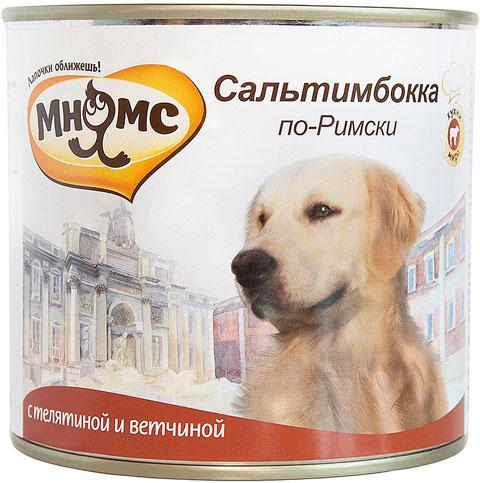 Консервы для собак Мнямс Сальтимбокка по-Римски, телятина и ветчина, 6шт по 600г