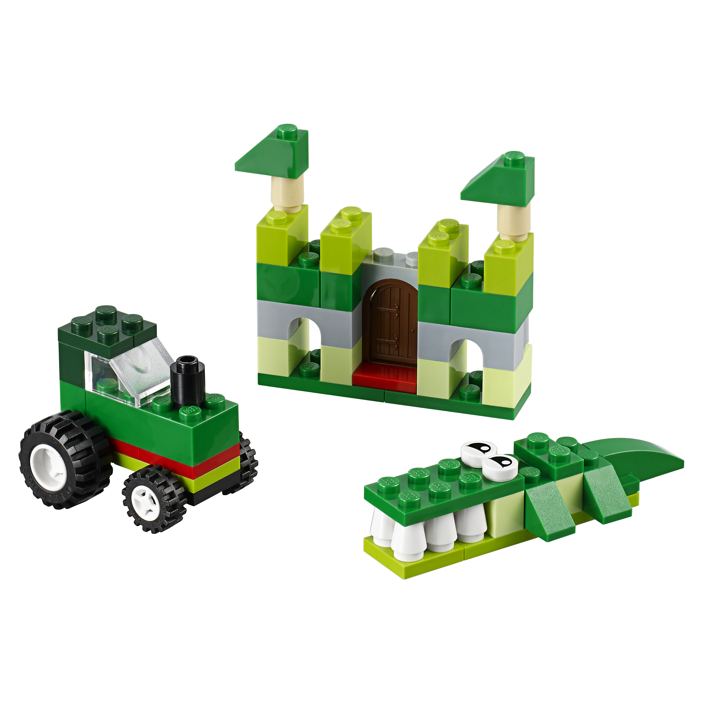 Купить Конструктор lego classic зелёный набор для творчества 10708, Конструктор LEGO Classic Зелёный набор для творчества (10708),