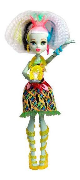 Купить Кукла Monster High Электро Фрэнки из серии Под напряжением, Куклы Monster High
