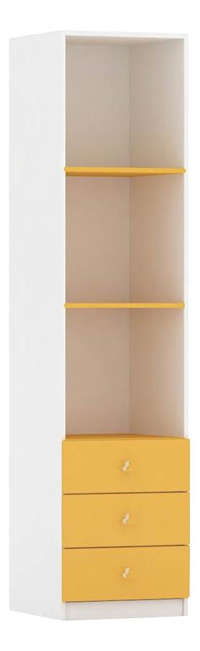 Шкаф детский Фея с ящиками белый-солнечный 0001071.18