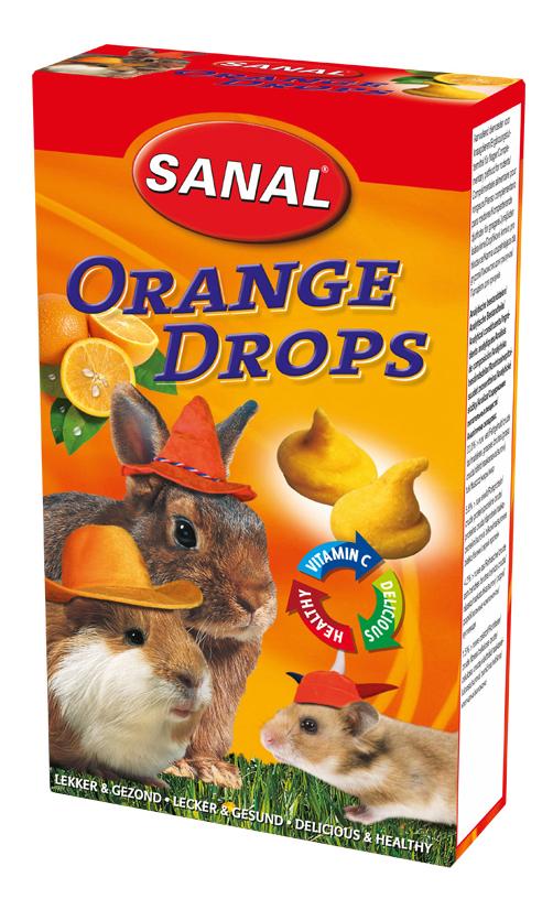 Лакомство для грызунов SANAL Orange Drops, 45г