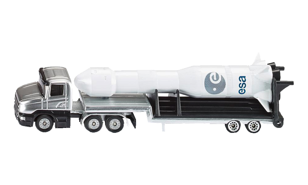 Купить Спецтехника Siku игрушка Тягач с ракетой 1614, Строительная техника