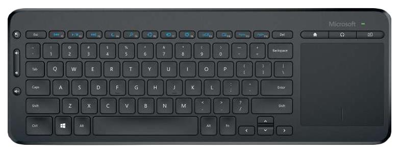 Беспроводная клавиатура Microsoft All-in-One Media Black