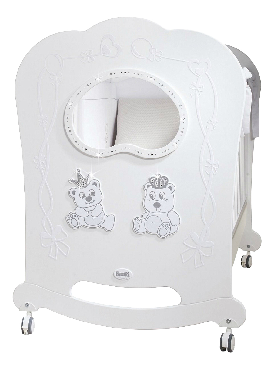 Кровать-качалка Feretti 65х125 см Oblo Majesty Brillante white фото