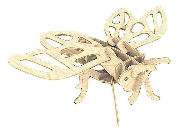 Купить Деревянная игрушка для малышей Цикада, Сборная Деревянная Модель, Мир Деревянных Игрушек, Развивающие игрушки
