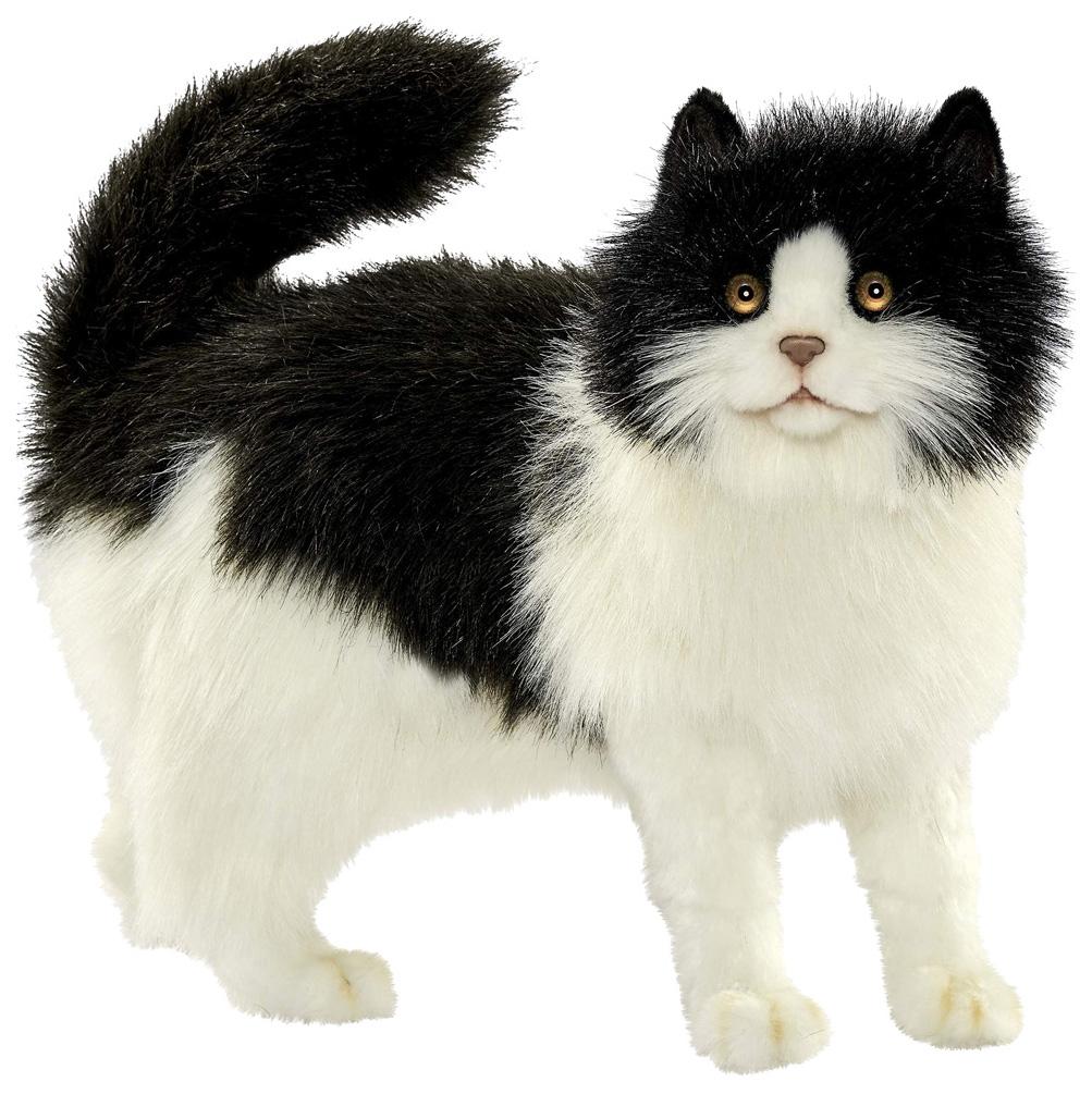 Купить Кошка черно-белая, Мягкая игрушка Hansa Кошка Черно-Белая40 см, Мягкие игрушки животные