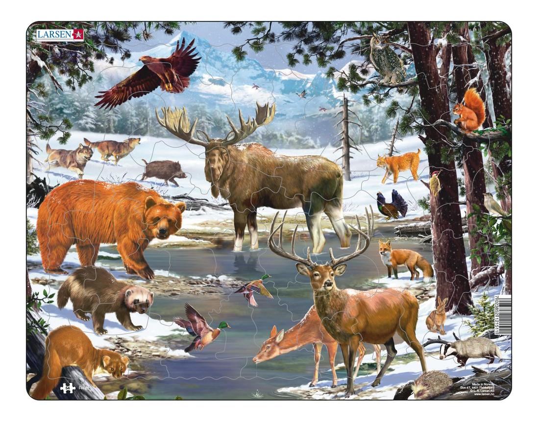 Купить Пазл Larsen Животные северной Европы, Пазлы