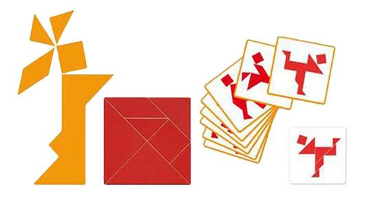Купить Семейная настольная игра Djeco Tangram, Семейные настольные игры