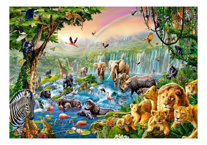 Купить Пазл Castorland Река в джунглях 500 деталей, Пазлы