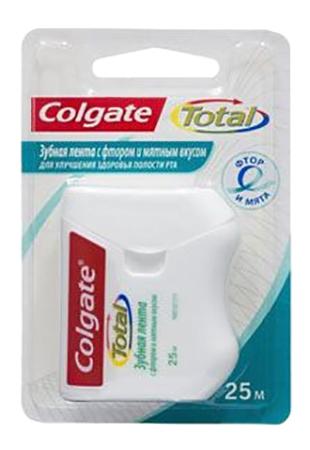 Зубная нить Colgate с фтором и мятным