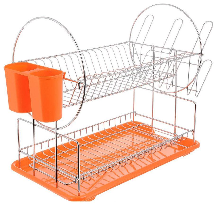 Сушилка для посуды 2-х ярусная Mayer#and#Boch 23219 Оранжевый