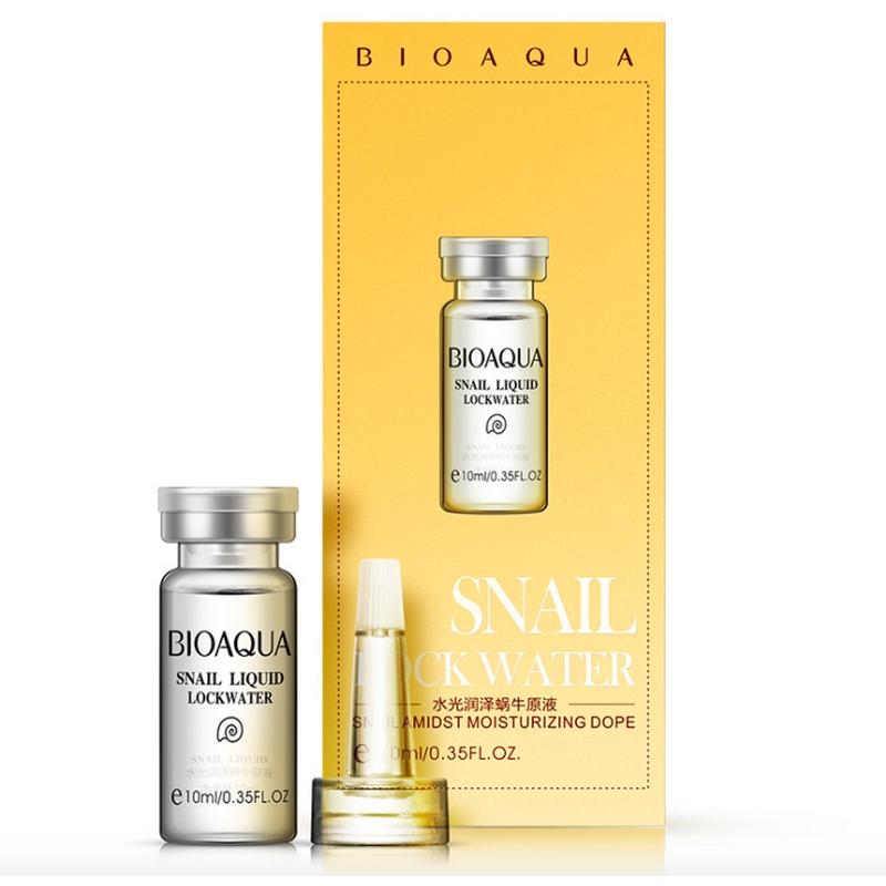 Сыворотка BioAqua с гиалуроновой кислотой и муцином улитки, 10 мл