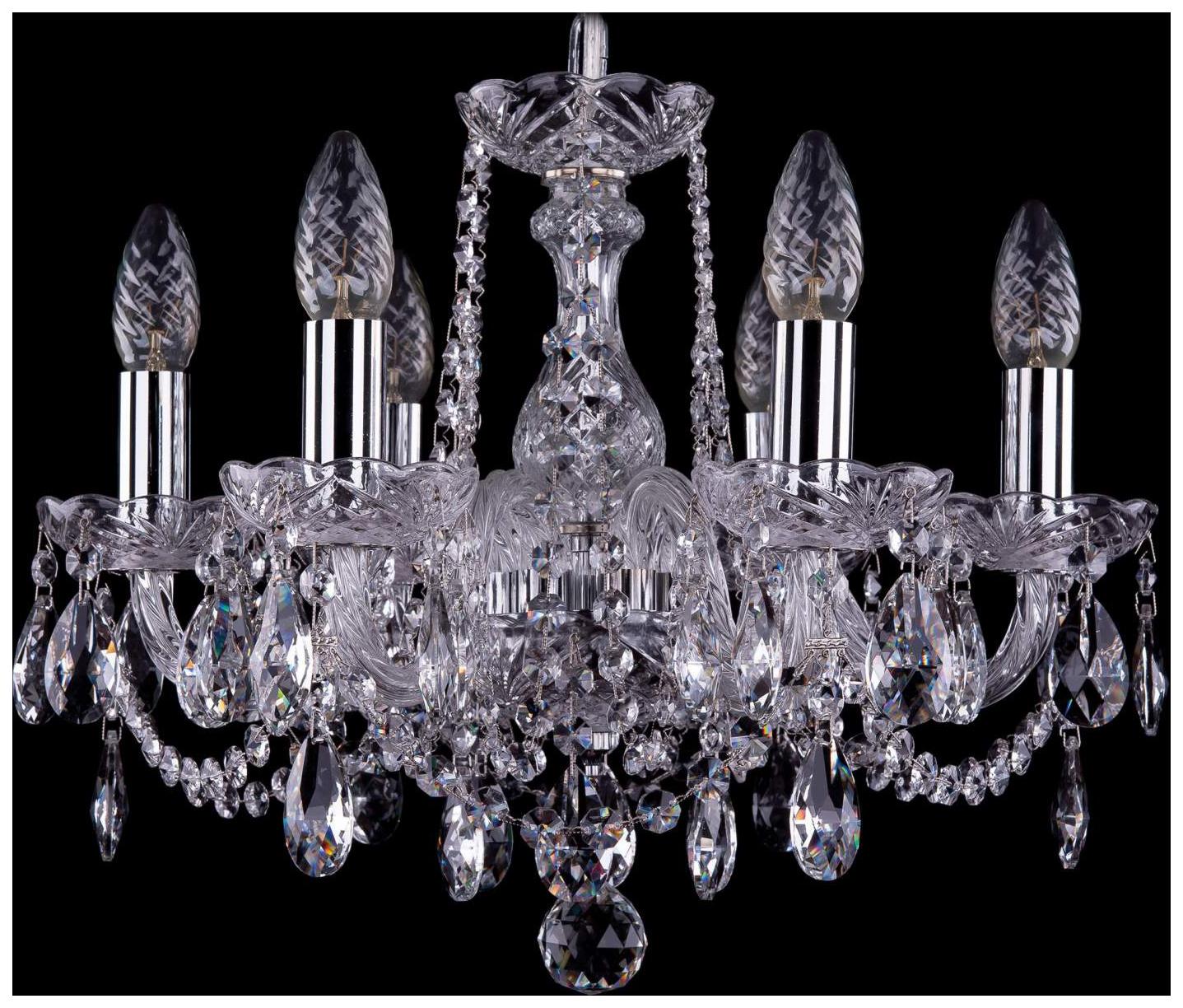 Люстра подвесная Bohemia Ivele Crystal 1402/6/141/Ni фото