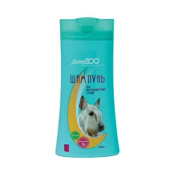 Шампунь-бальзам для собак Доктор ZOO для жесткошерстных, провитамин В5 и кератин, 250 мл фото