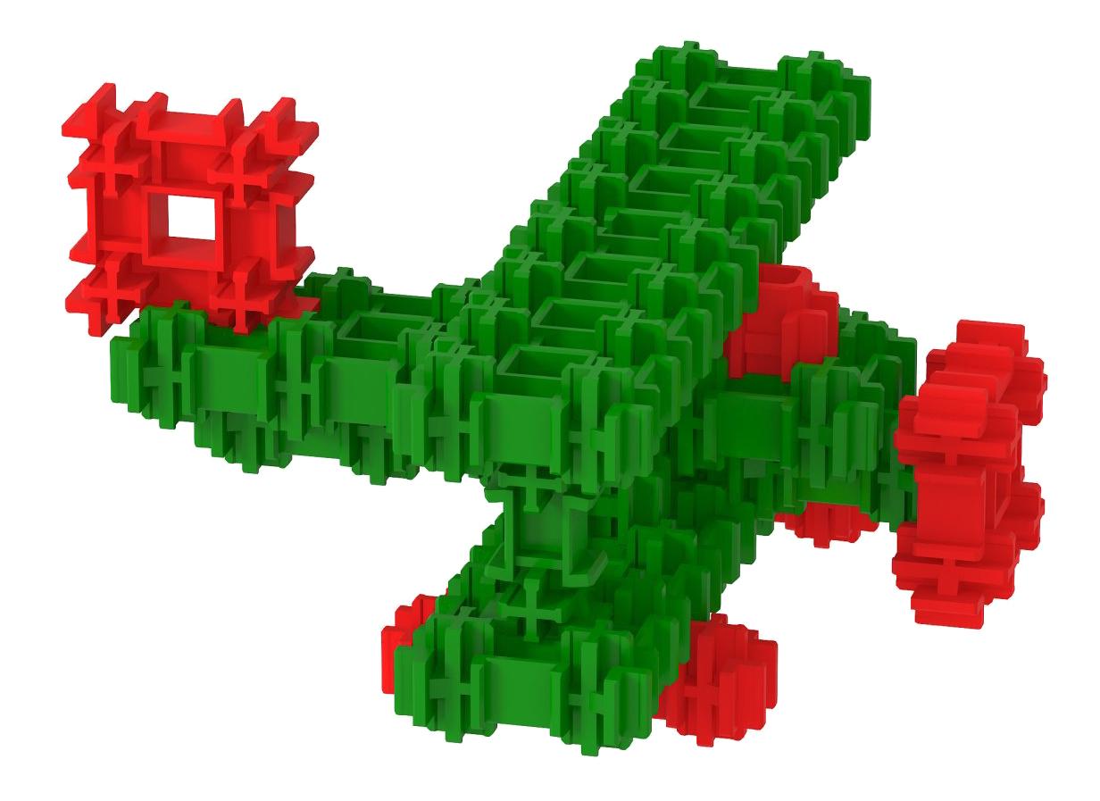Конструктор пластиковый Fanclastic Биплан