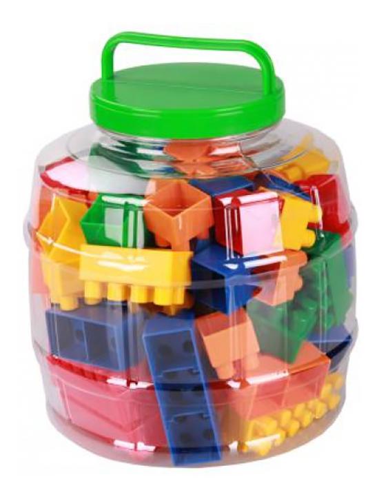 Конструктор пластиковый Альтернатива Конструктор детский стандарт 65шт