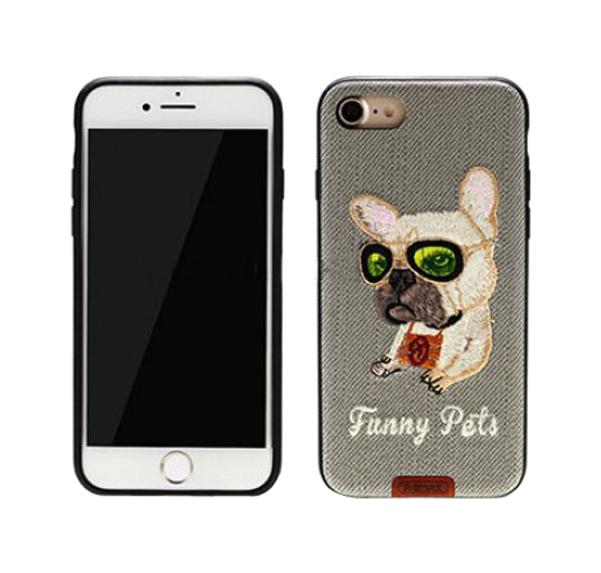 Чехол-накладка Remax Funny Pets для Apple iPhone 7 Серый