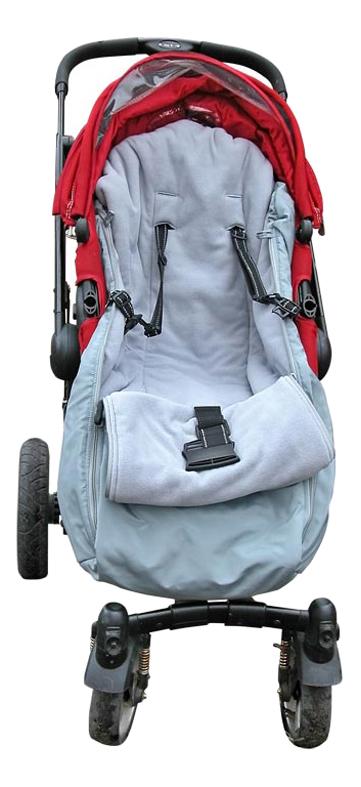 Конверт-мешок для детской коляски Чудо-Чадо Флис серый