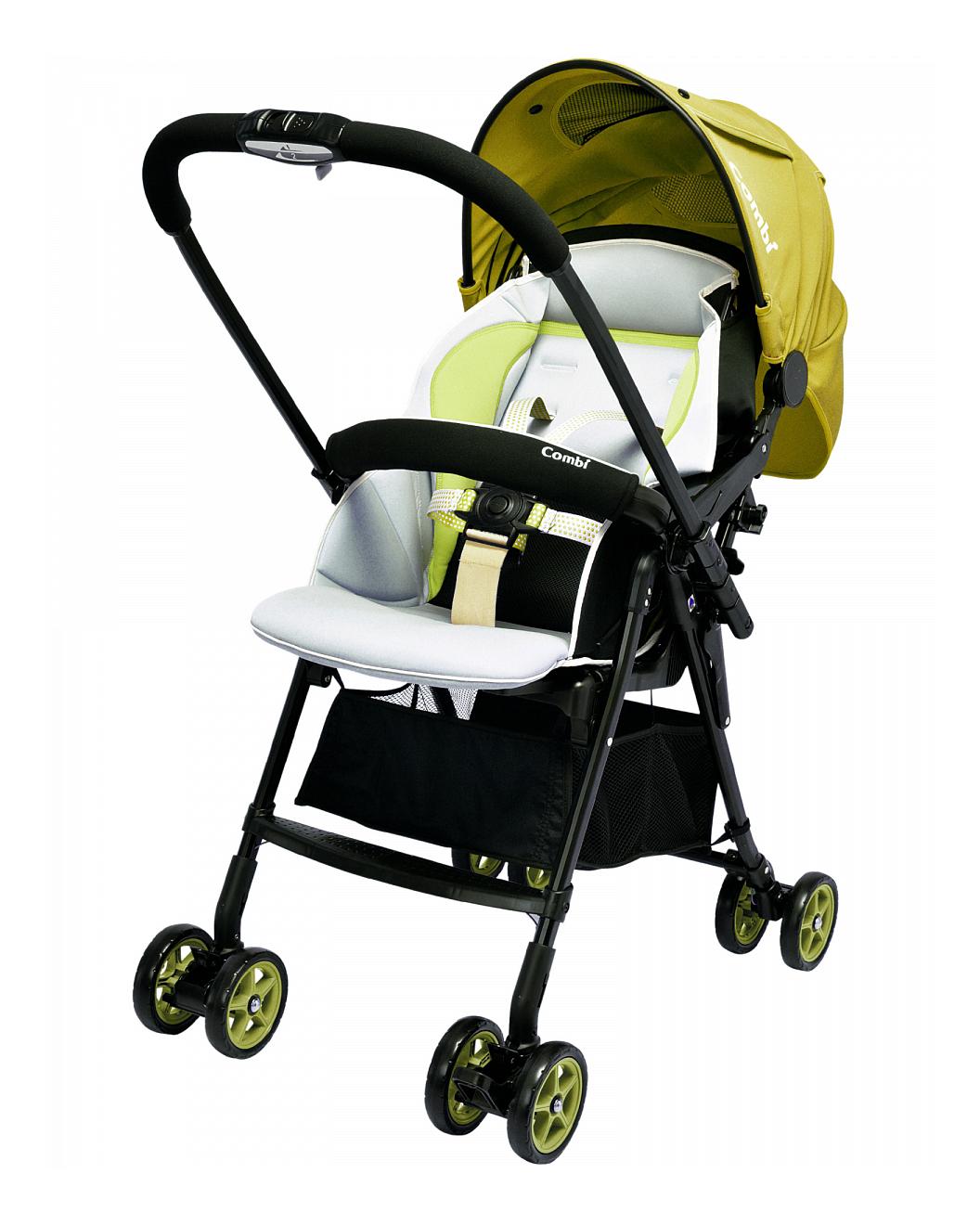 Купить Прогулочная коляска Combi Well Comfort зеленая, Коляски книжки