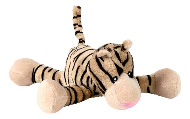 Мягкая игрушка для собак TRIXIE Тигр шуршащий, бежевый, черный, 20 см фото