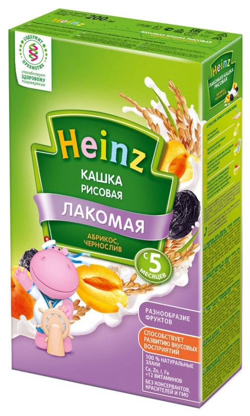 Каша молочная Heinz Рисовая абрикос, чернослив с 5 мес. 200 г