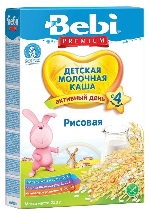 Купить Рисовая 250 г, Молочная каша Bebi Рисовая с 4 мес 250 г, Детские каши