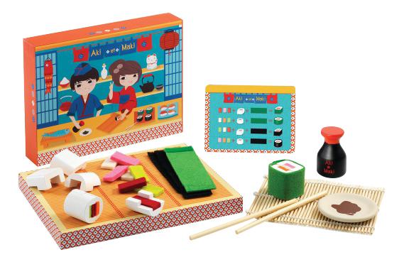 Купить Набор продуктов игрушечный Djeco Суши 06537, Игрушечные продукты