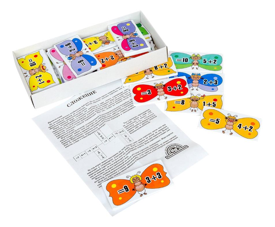 Купить Обучающая настольная игра Умное домино Сложение Тридевятое царство, Семейные настольные игры