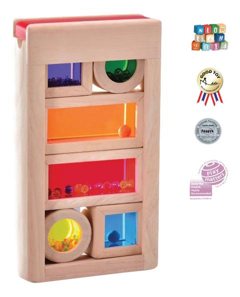 Купить Деревянная игрушка для малышей Wonderworld Радужные блоки, Развивающие игрушки