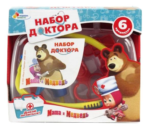 Купить Маша и Медвед Давай лечиться, Набор доктора Маша и Медведь Давай лечиться Играем Вместе MT1092MTP-DA-R, Играем в доктора