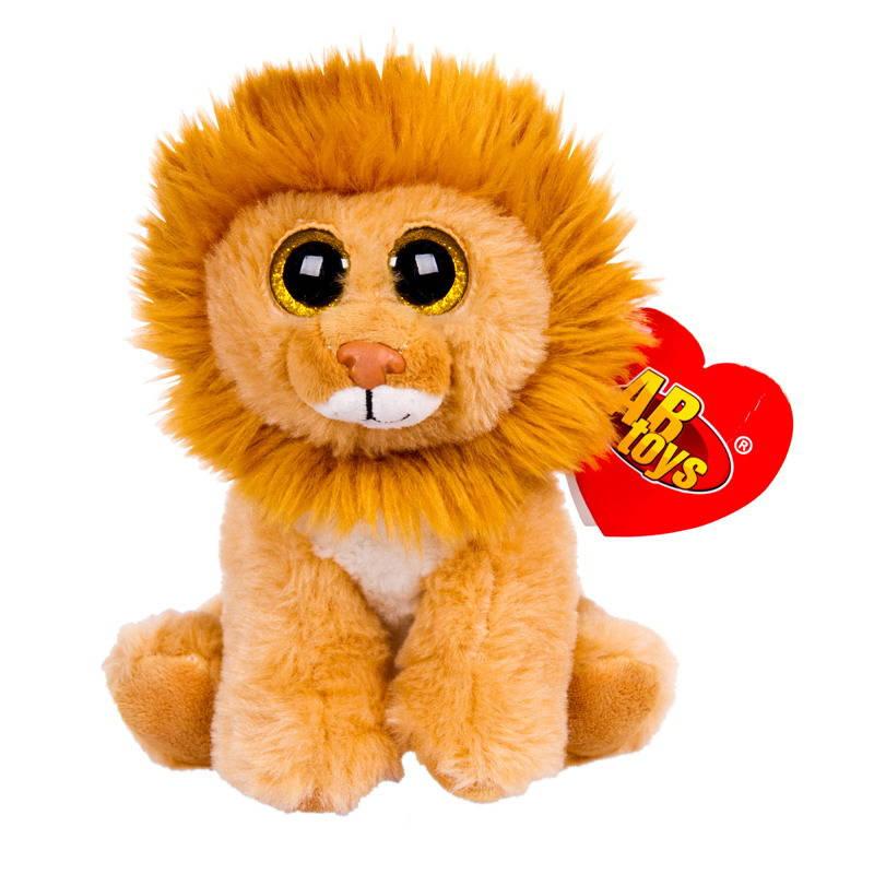 Купить Мягкая игрушка ABtoys Львенок коричневый, 15 см, Мягкие игрушки животные