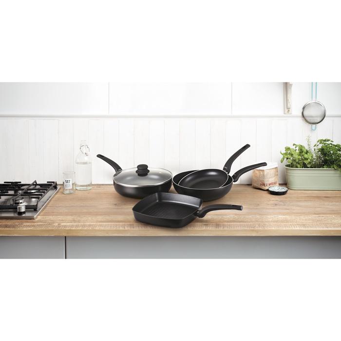 Сковорода-гриль антипригарная 26х26 см HEAT MATT BLACK