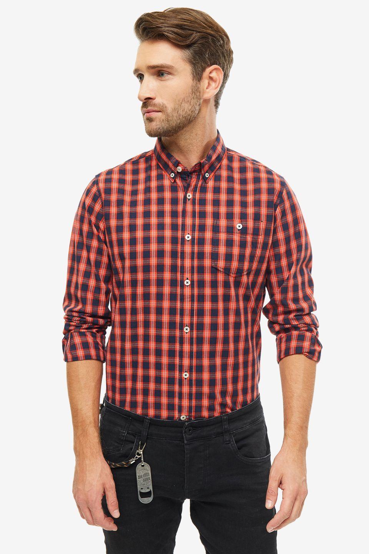 Рубашка мужская TOM TAILOR 1013888-19805 красная XXS