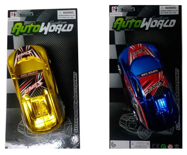 Купить Инерц. пласт. гоночная машина, цвет металлик, CRD15x31x8 см, 2 вида, арт.2022DA., Shenzhen Toys, Игрушечные машинки
