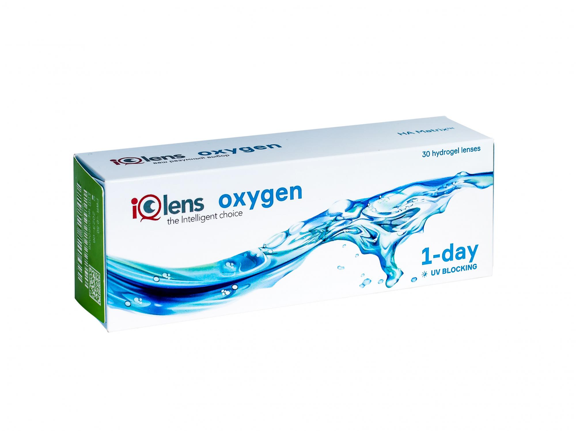 Контактные линзы IQlens Oxygen 6 линз R 8.6 -10,00