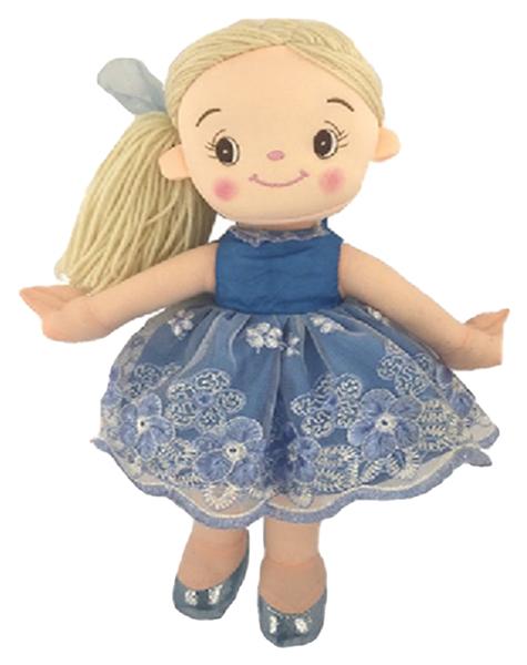 Купить Кукла мягконабиваная, балерина, 30 см, цвет голубой, ABtoys, Классические куклы