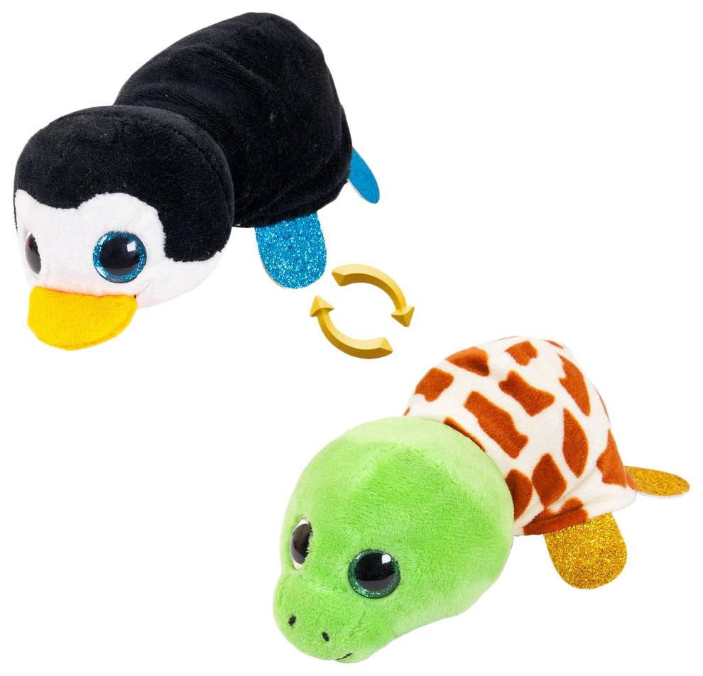 Купить Пингвин/Черепаха 16 см. Игрушка мягкая серии Перевертыши , ABtoys, Мягкие игрушки животные