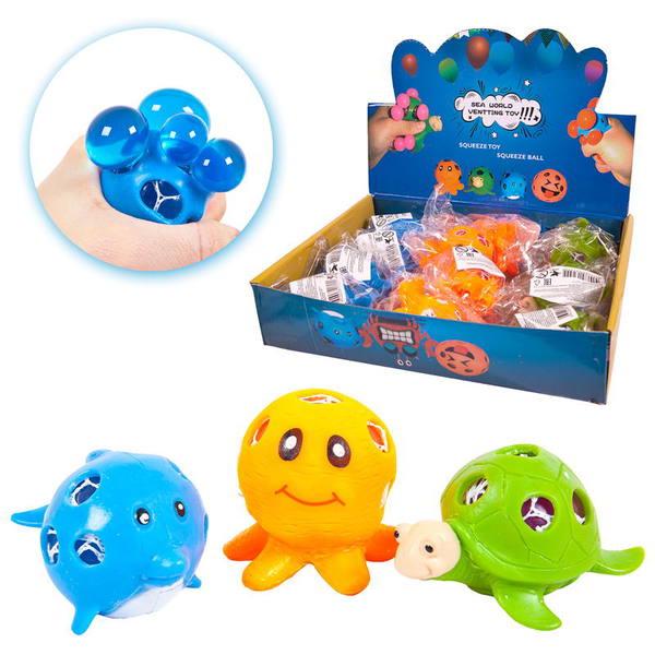 Купить Игрушка-антистресс Dinosaur World Морские животные , 12 шт. в дисплее, ЦЕНА ЗА ШТУКУ!, Junfa toys,