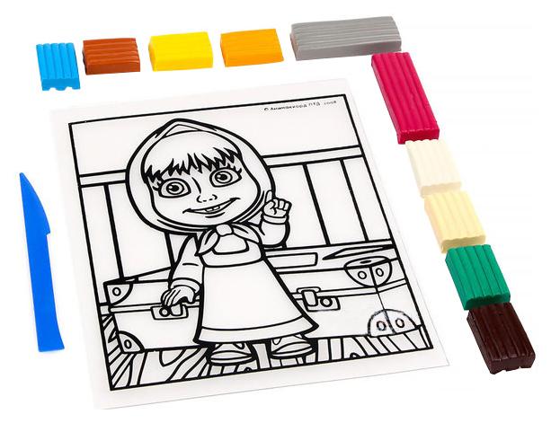 Раскраска пластилином Маша Пкш-001