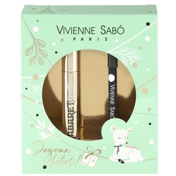 Подарочный набор Vivienne Sabo тушь Cabaret premiere тон 01+Карандаш д/глаз Merci  тон 301