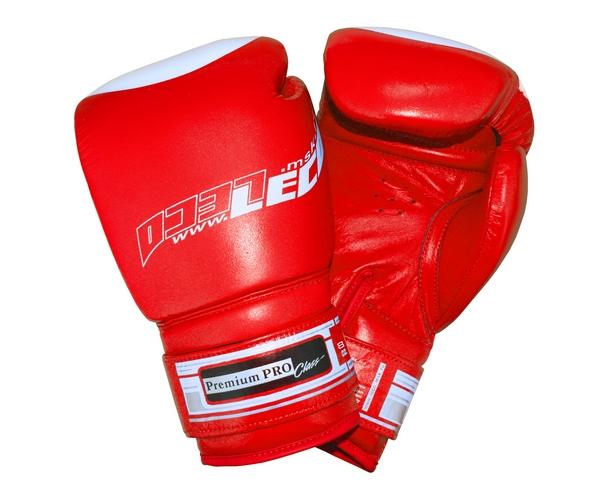 Боксерские перчатки Leco Премиум Про красные 8 унций