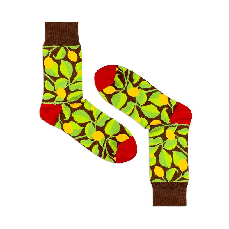 Носки унисекс Burning heels Лимоны коричневые 42-45