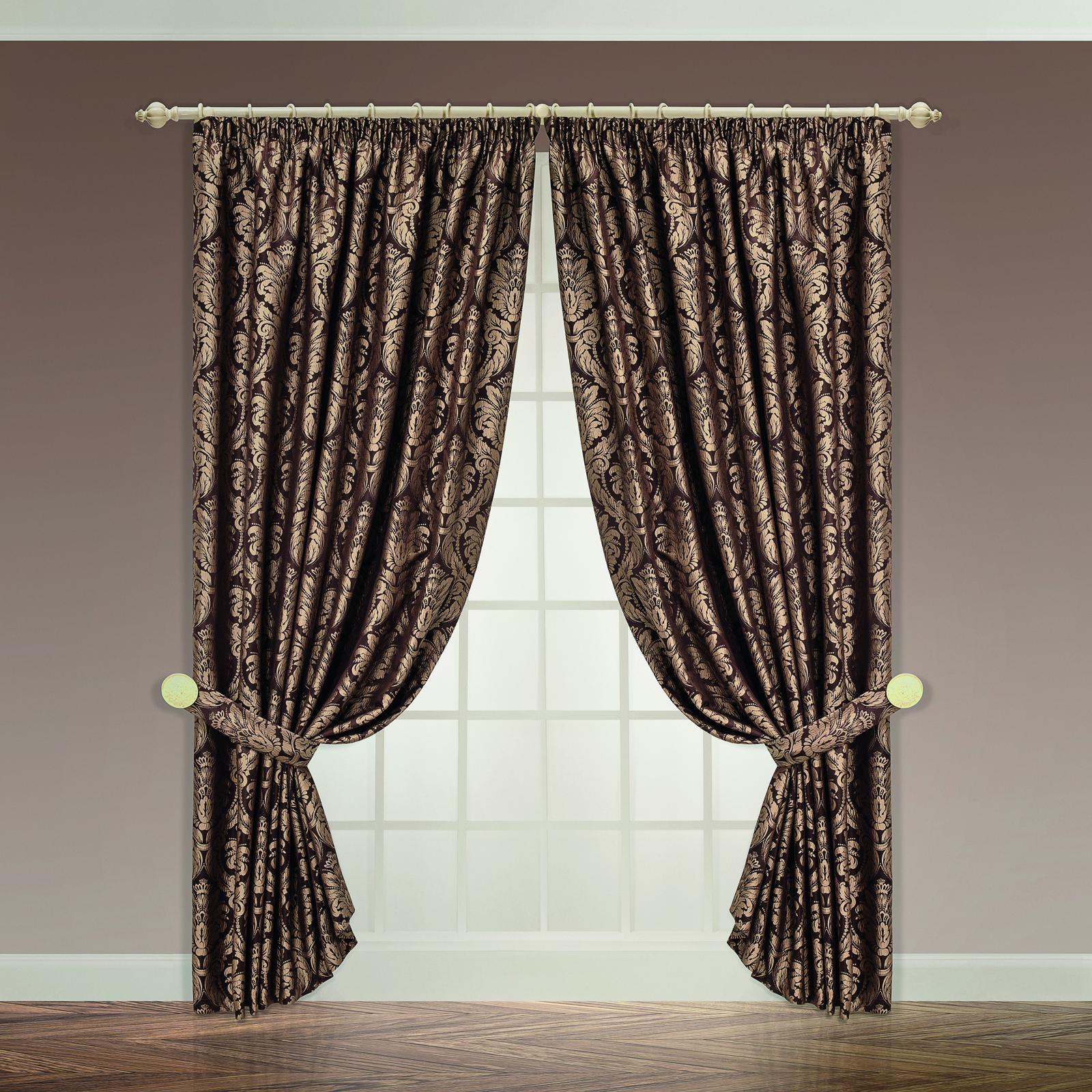 Классические шторы DAILY by T Севилья Цвет: Коричневый, высота 245 см