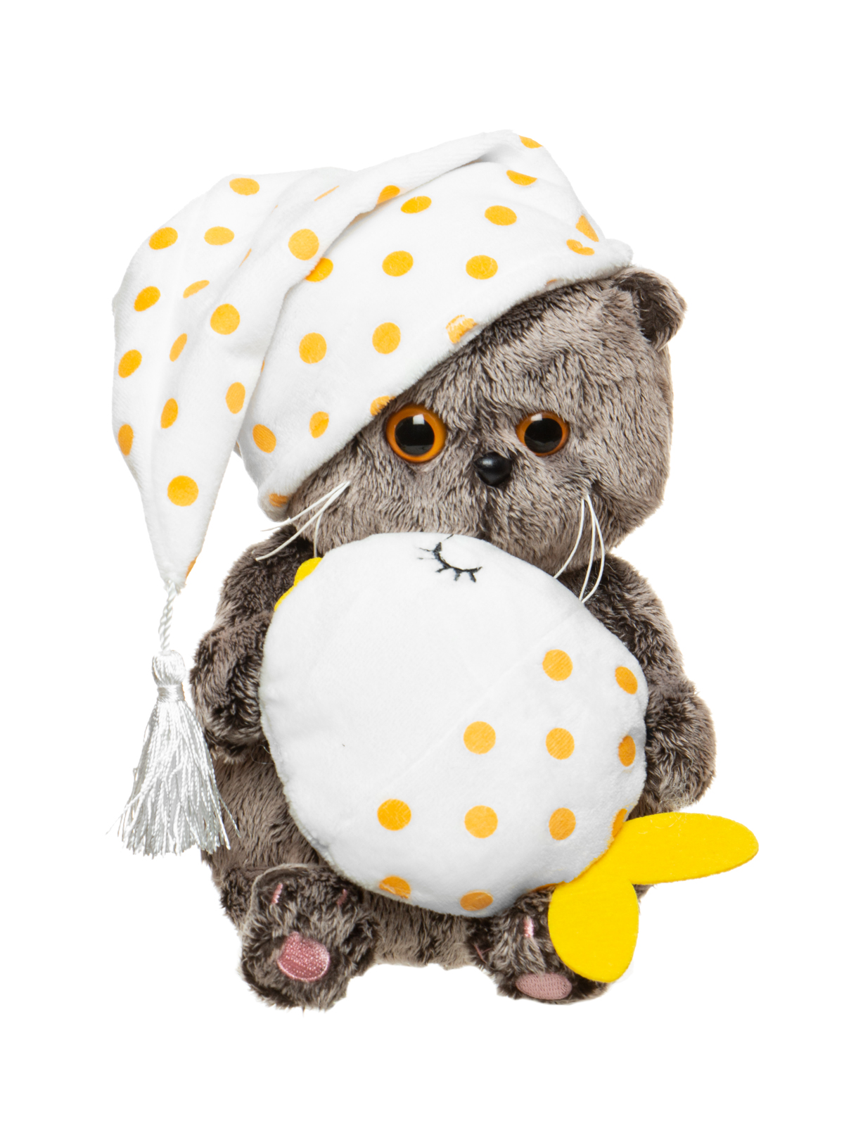 Мягкая игрушка BUDI BASA Басик BABY с подушкой-рыбкой, 20 см