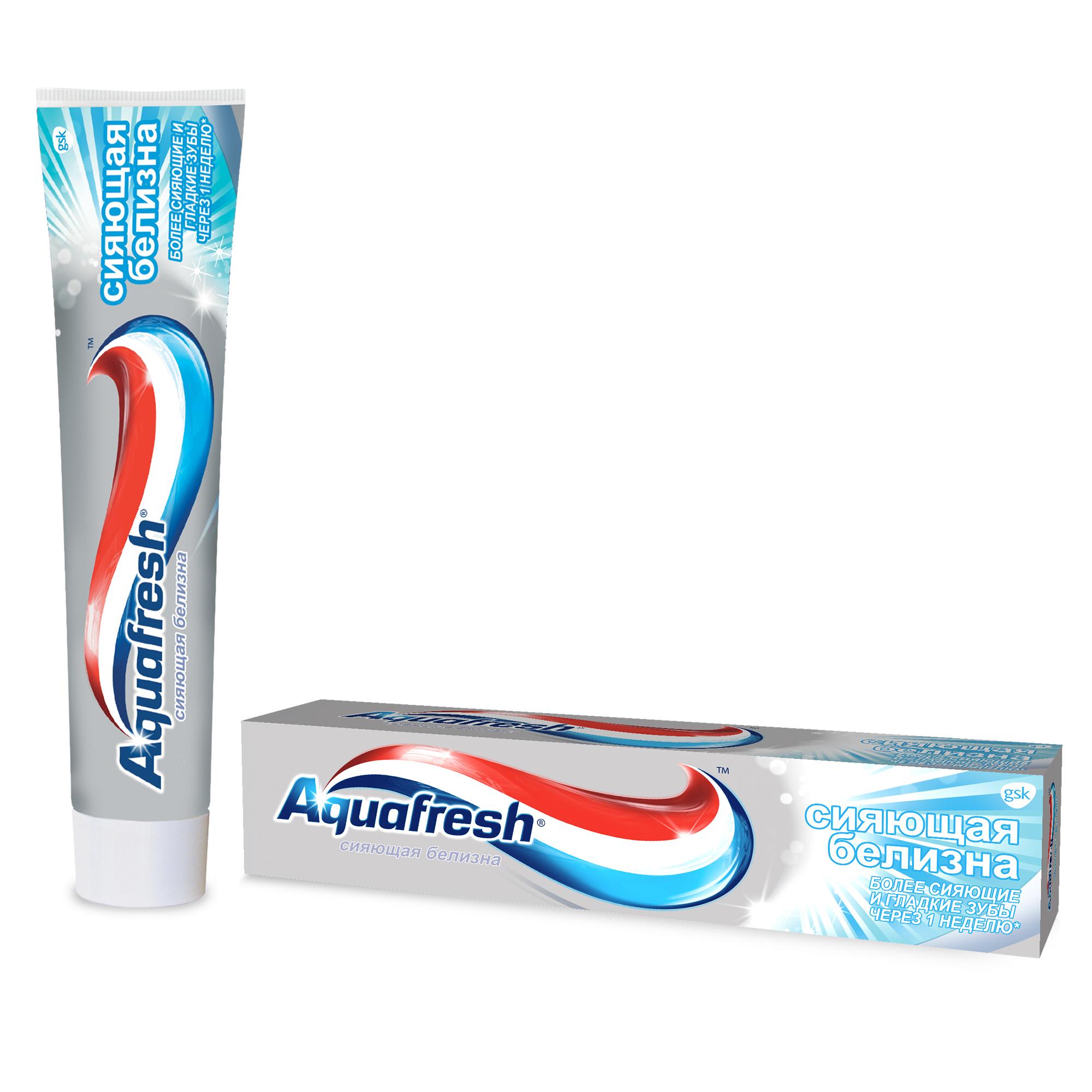 Зубная паста Aquafresh Тройная защита Сияющая белизна, 100 мл фото